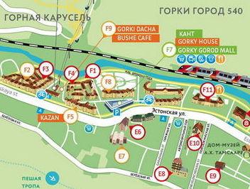Карта Горки Город (Эстосадок)